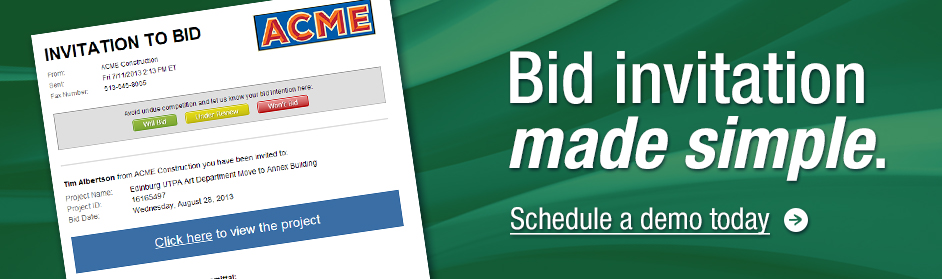 Bid invitation made simple